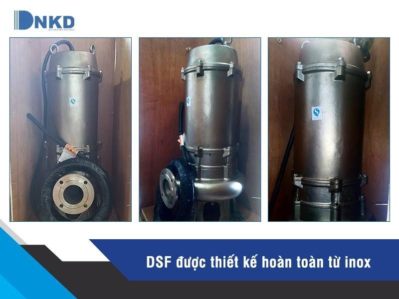 Máy bơm chìm thoát nước thải full inox DSF: Chống ăn mòn vượt trội